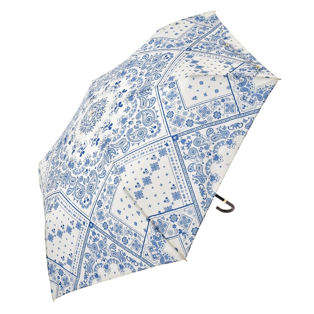 【Wpc.】ミッキー&フレンズ 傘 折りたたみ式 ペイズリー Rainy Day 2020