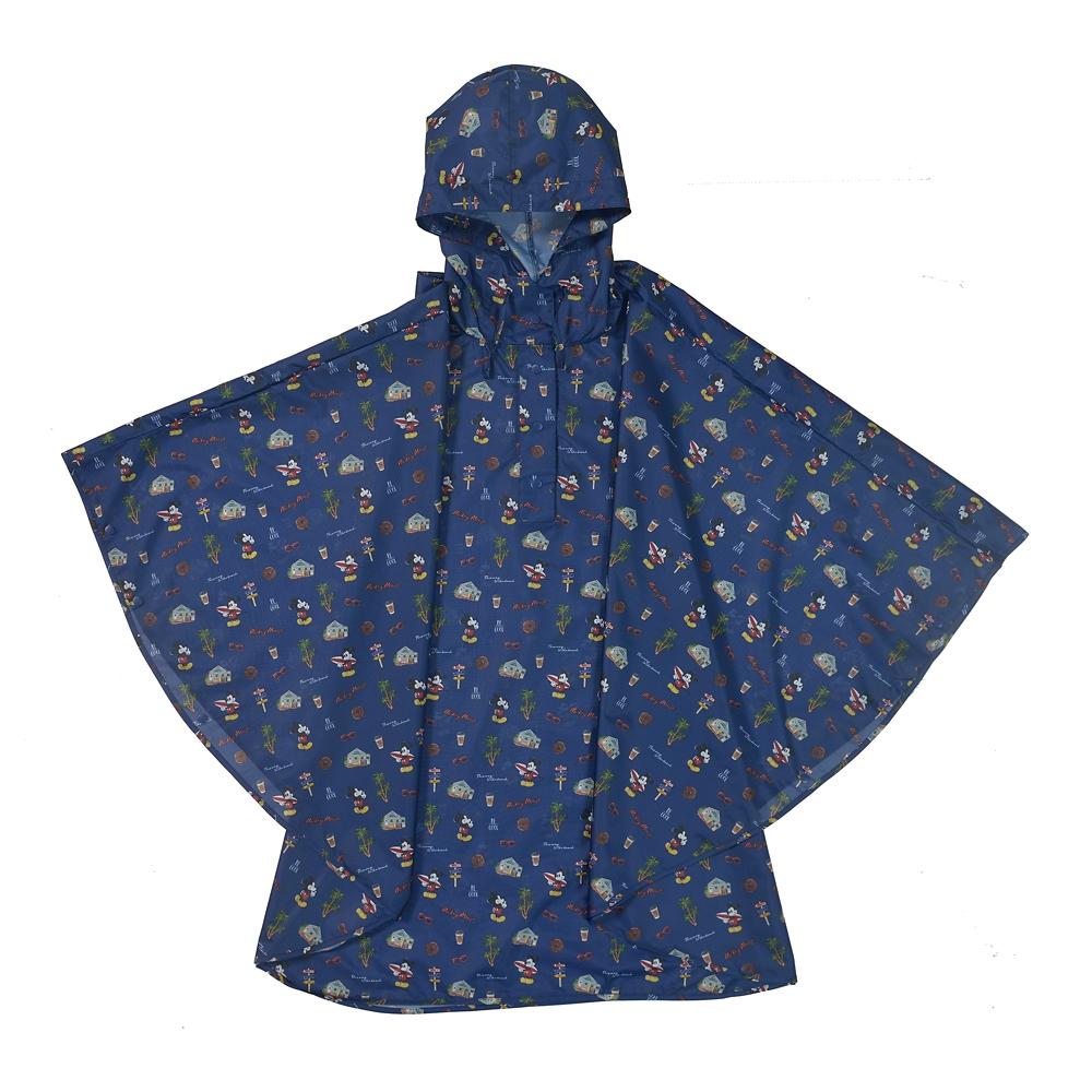 【Wpc.】ミッキー ポンチョ ポーチ付き サマーホリデー Rainy Day 2020