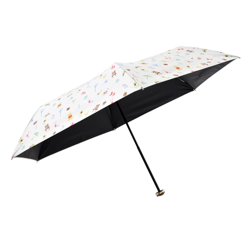 【Wpc.】プーさん&ピグレット 日傘 折りたたみ式 ポーチ付き suisai icon Rainy Day 2020