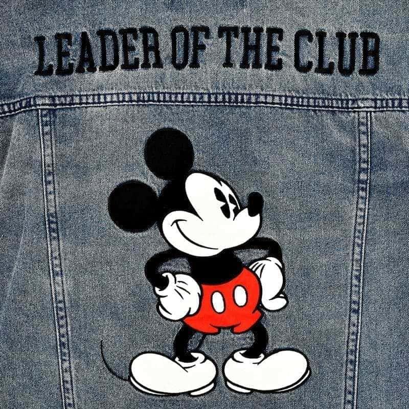 ミッキー デニムジャケット(XL) Mickey Mouse March