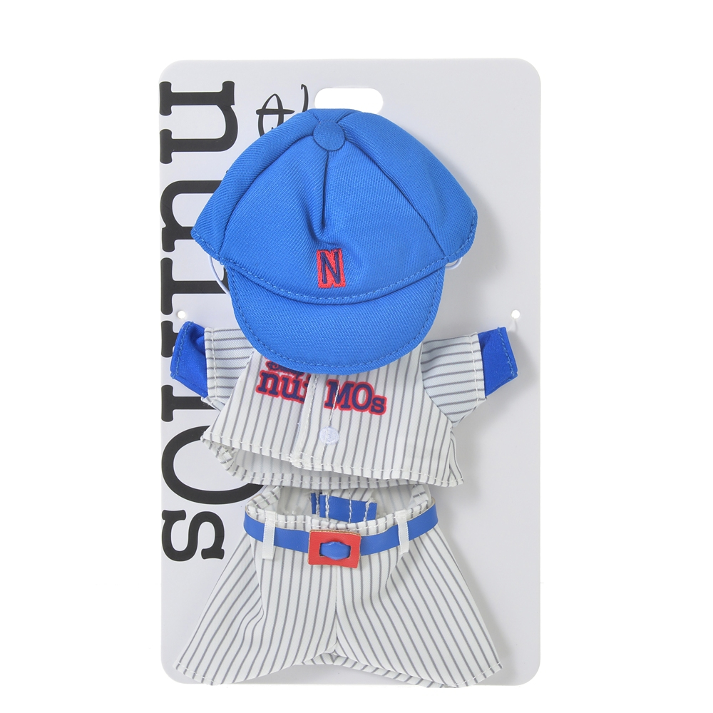 nuiMOs ぬいぐるみ専用コスチューム 野球ユニフォームセット ホワイト