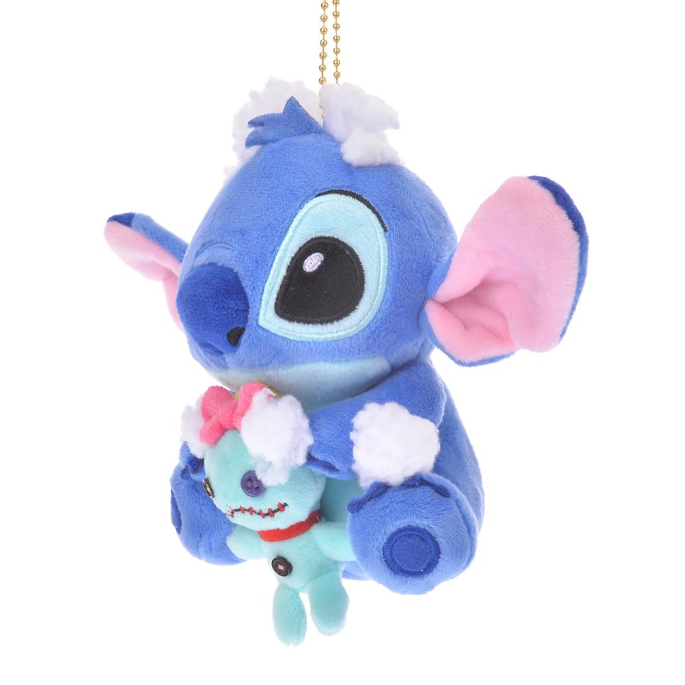 【アウトレット】スティッチ&スクランプ ぬいぐるみキーホルダー・キーチェーン Stitch Day 2020