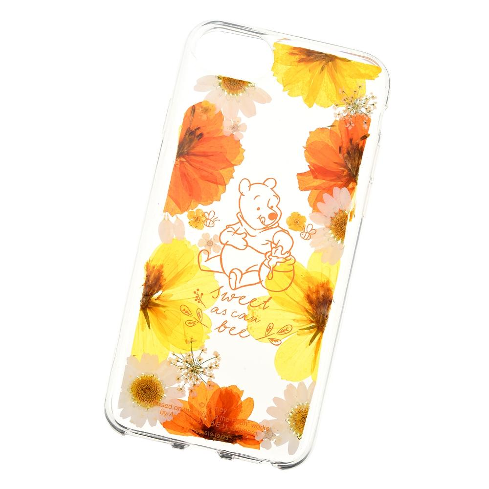プーさん iPhone 6/6s/7/8用スマホケース・カバー 押し花