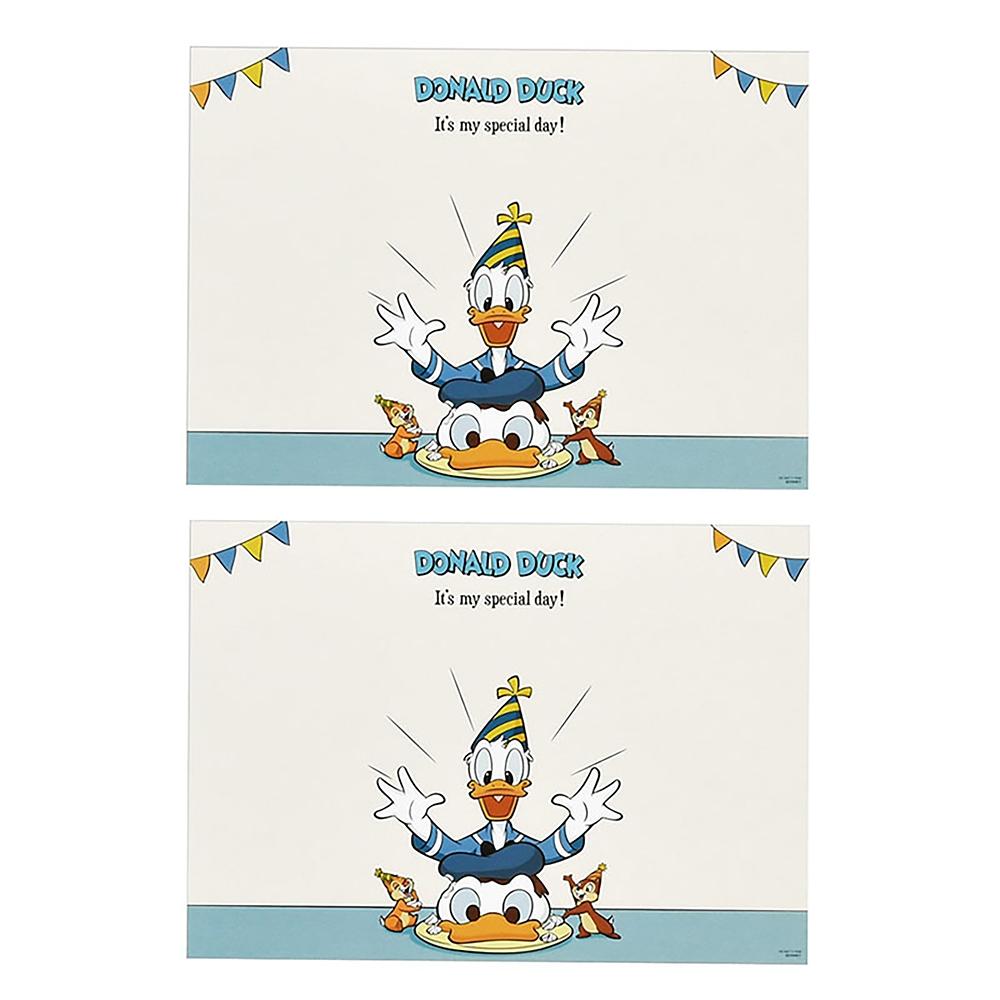 ドナルド、チップ&デール ランチョンマット Donald Duck Birthday 2020