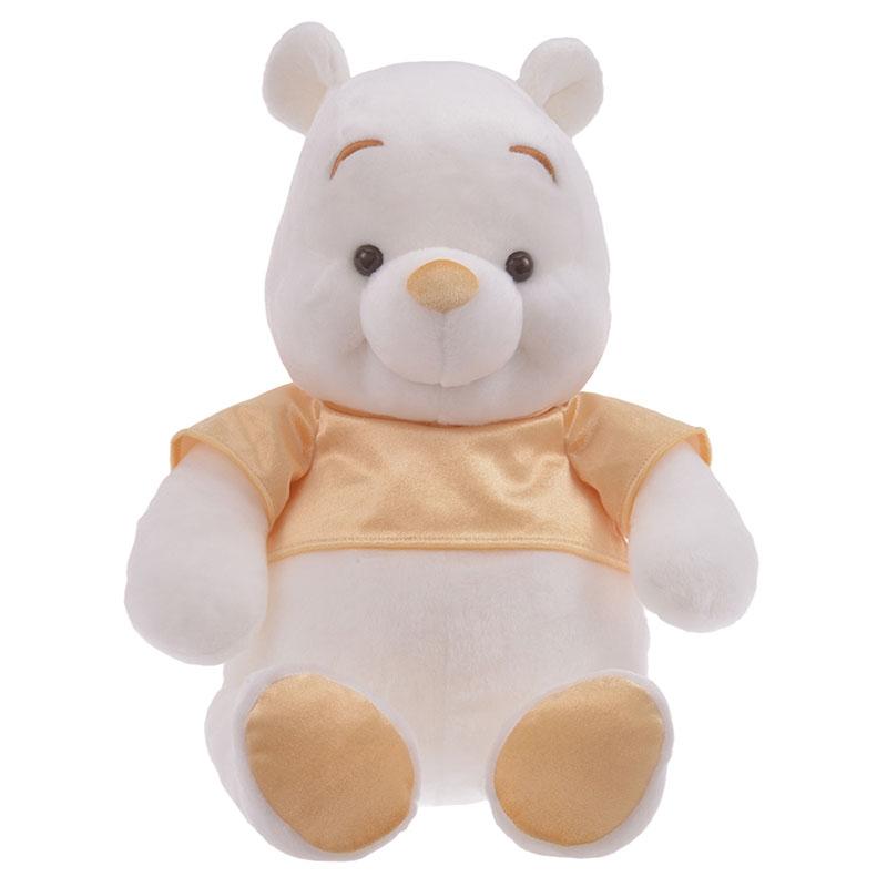 プーさん ぬいぐるみ(L) White Pooh ゴールド
