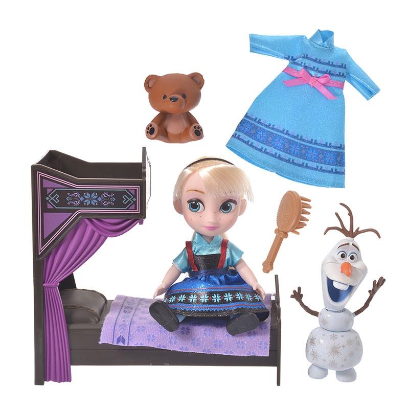 ディズニー アニメーターズ コレクションドール ミニプレイセット エルサ&オラフ ベッドセット