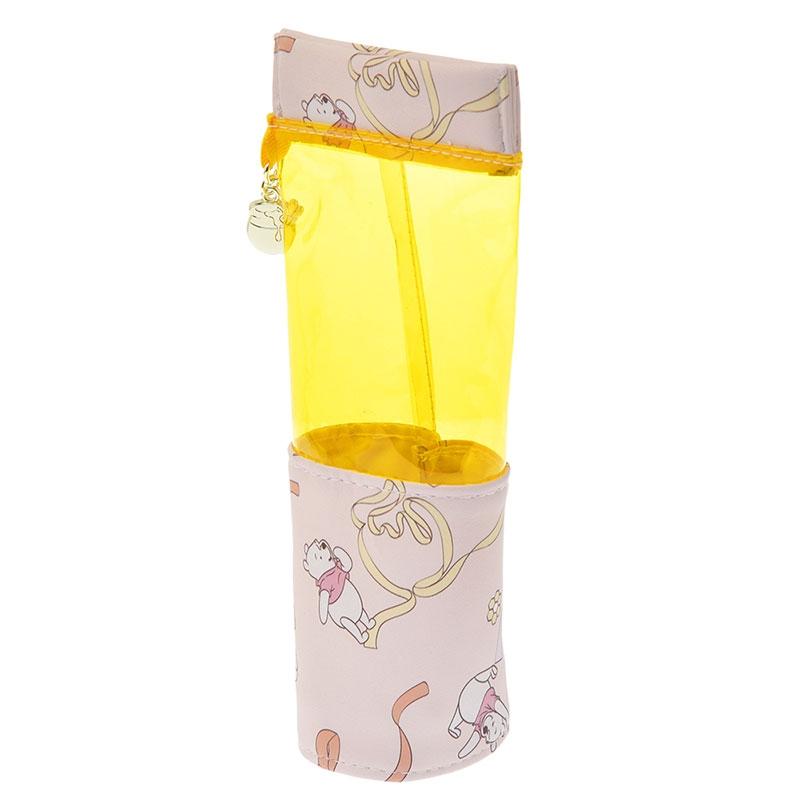 プーさん 筆箱・ペンケース スタンド型 クリア リボン