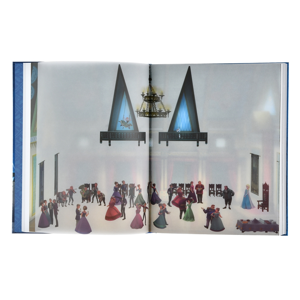 アナと雪の女王 ノート ポスター付き アレンデール城 Disney Castle Collection