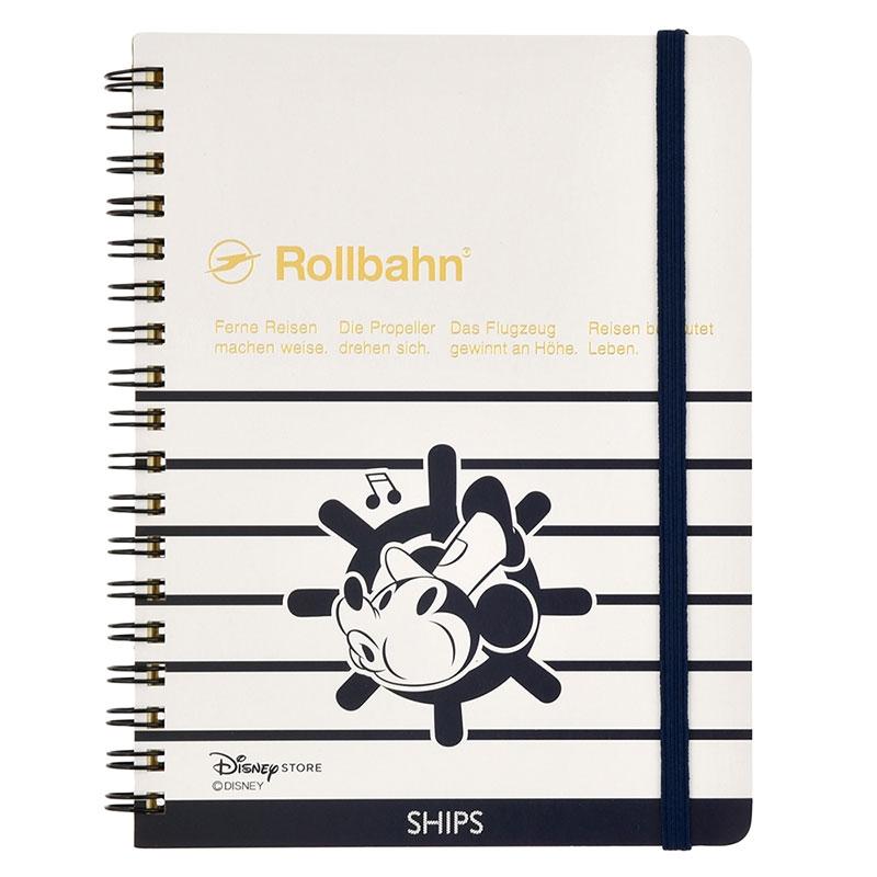 【SHIPS】【デルフォニックス】ミッキー Rollbahn ポケット付メモ 蒸気船ウィリー