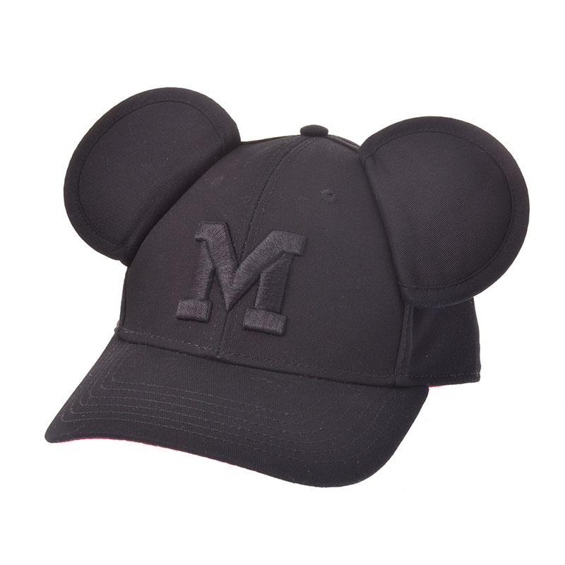 ミッキー 帽子・キャップ イニシャル イヤーキャップ