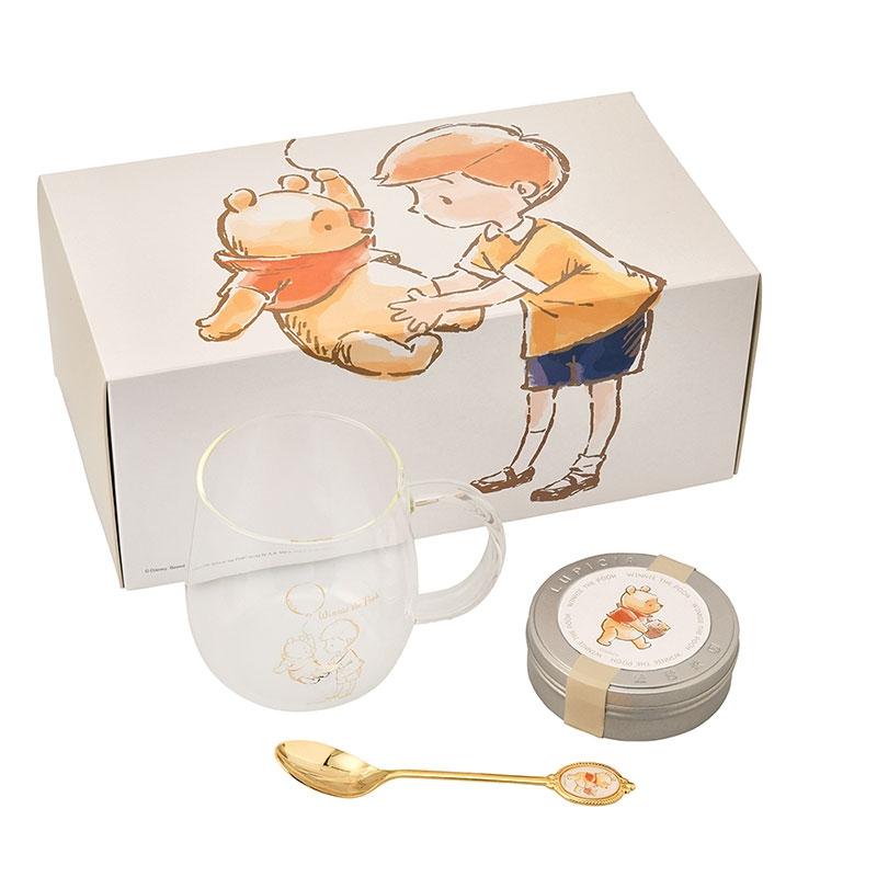 【LUPICIA】プーさん&クリストファー・ロビン フレーバードティー セット White Pooh ゴールド