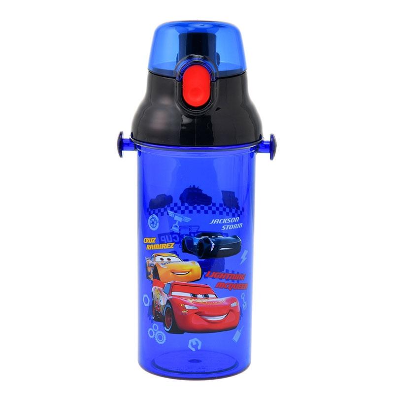 カーズ/クロスロード 水筒・ウォーターボトル ストラップ付き ブルー ネーム