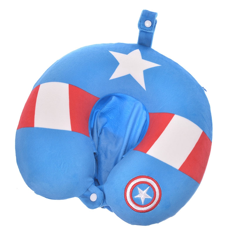マーベル キャプテン・アメリカ ネックピロー フード付き