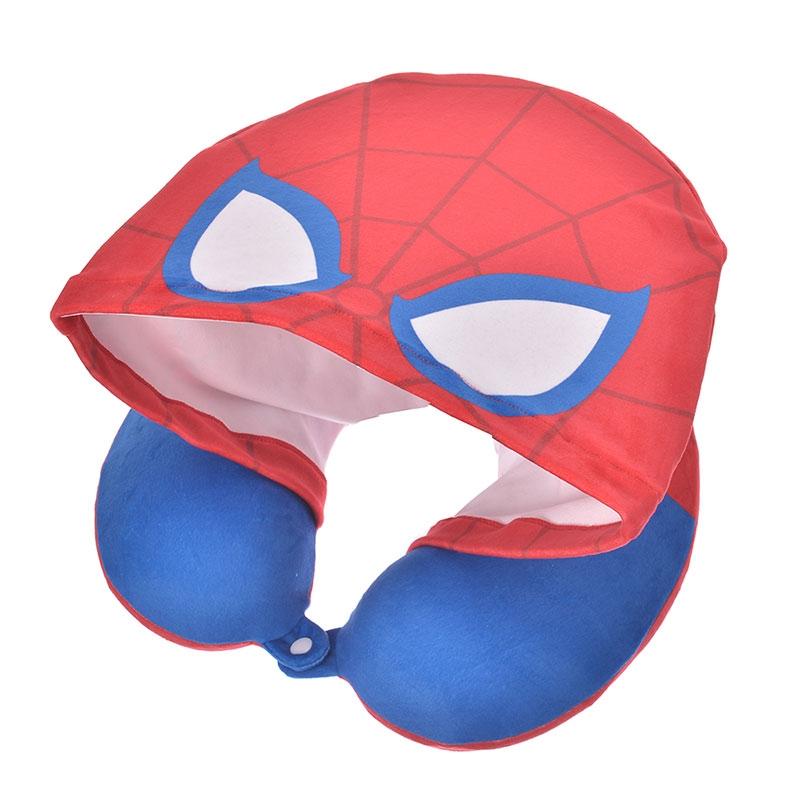 マーベル スパイダーマン ネックピロー フード付き