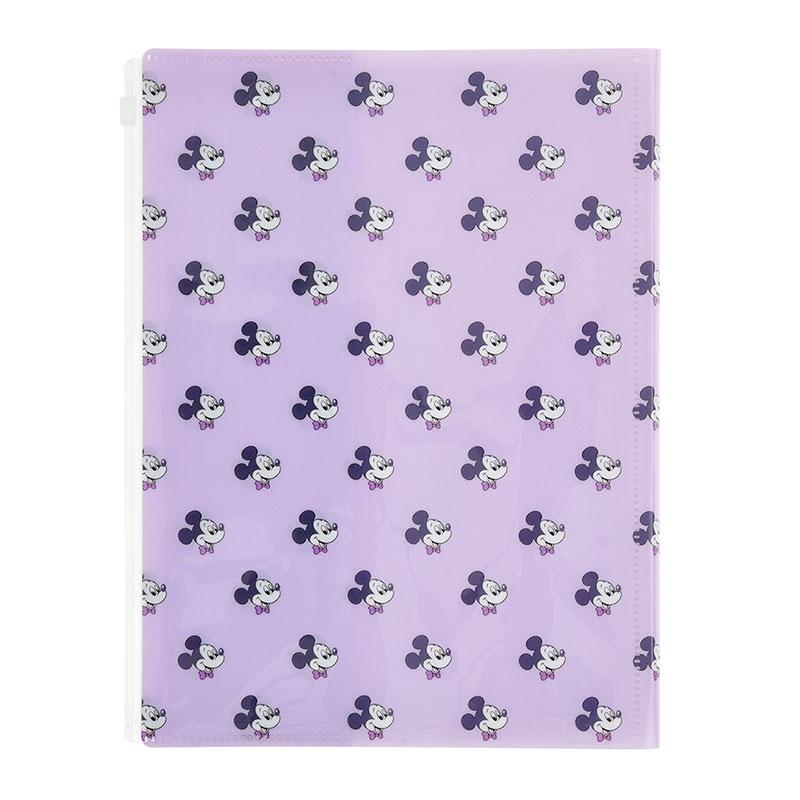 ミッキー クリアファイル 4ポケット+1ケース ノート付き Colors