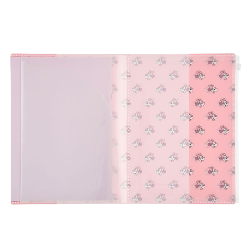 ミニー クリアファイル 4ポケット+1ケース ノート付き Colors