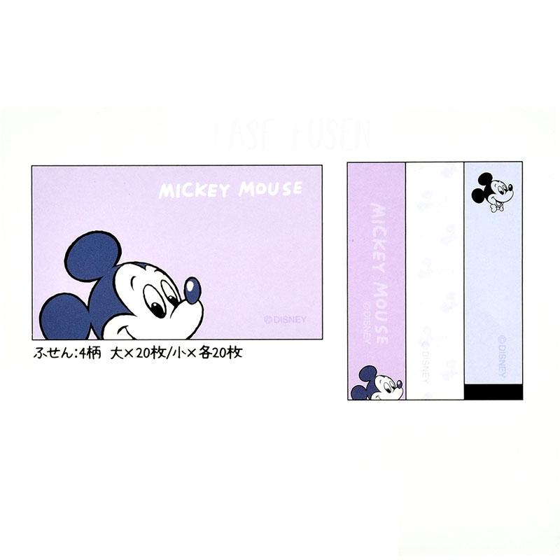 ミッキー 付箋・メモ帳 ケース入り Colors