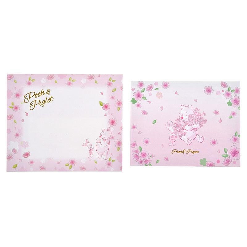 プーさん&ピグレット メッセージカード サクラ