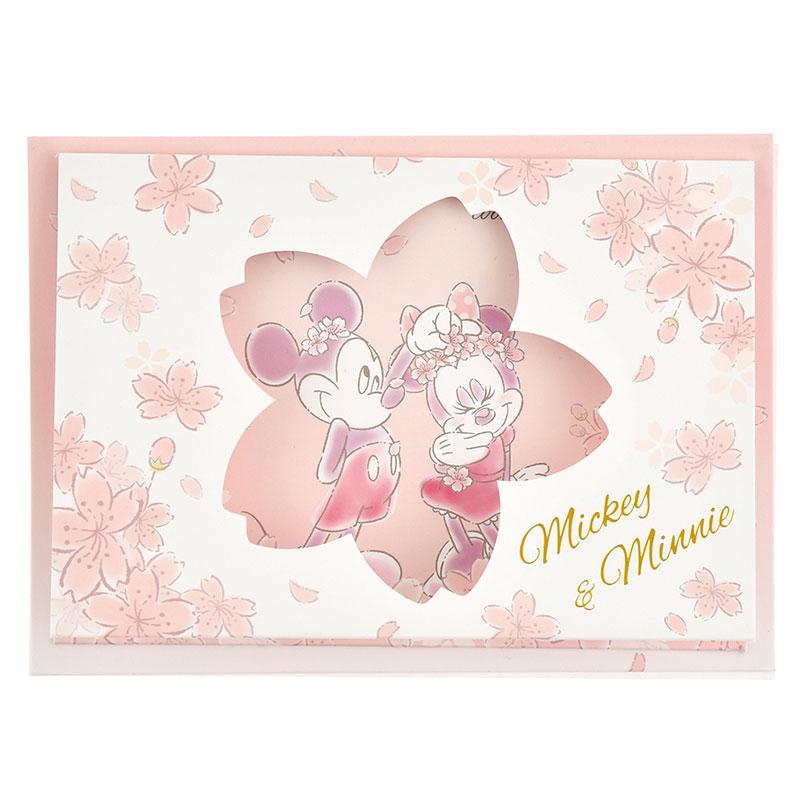 ミッキー&ミニー メッセージカード サクラ