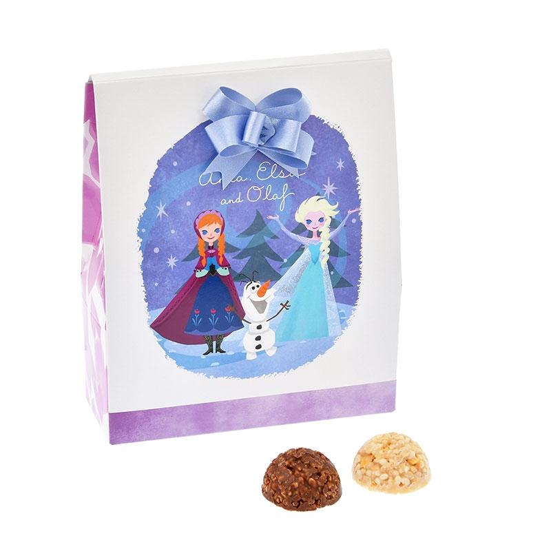アナ、エルサ、オラフ クランチチョコレート リボン Disney Valentine 2020