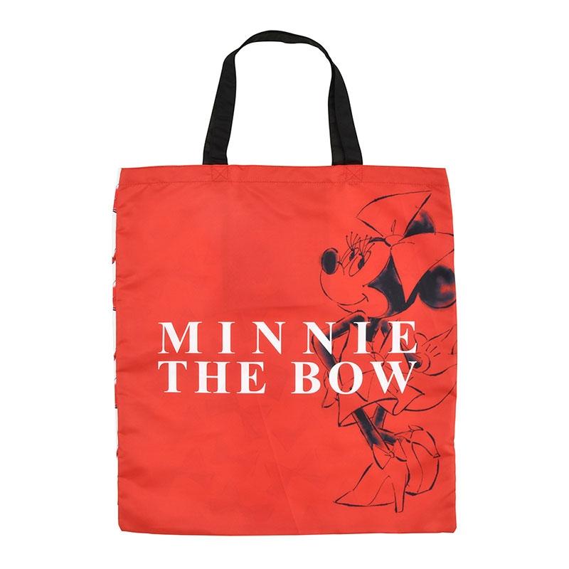 ミニー ショッピングバッグ・エコバッグ 折りたたみ式 レッドボウ