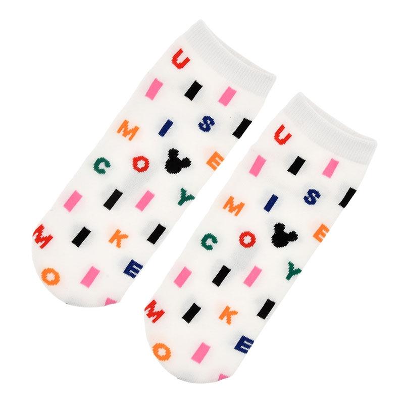 ミッキー 靴下 くるぶし アルファベット アイコン