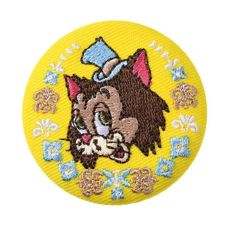 ギデオン 缶バッジ 刺しゅう Pinocchio 80th
