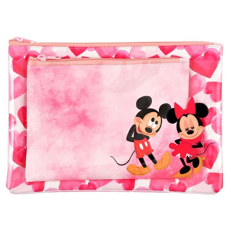 ミッキー&ミニー ポーチ フラット Disney Valentine 2020