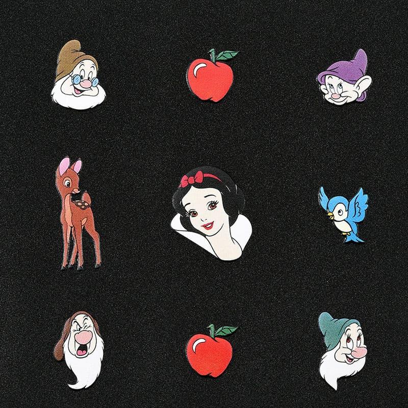 白雪姫&7人のこびと ミラー・鏡 折りたたみ式 Princess Black Cosme