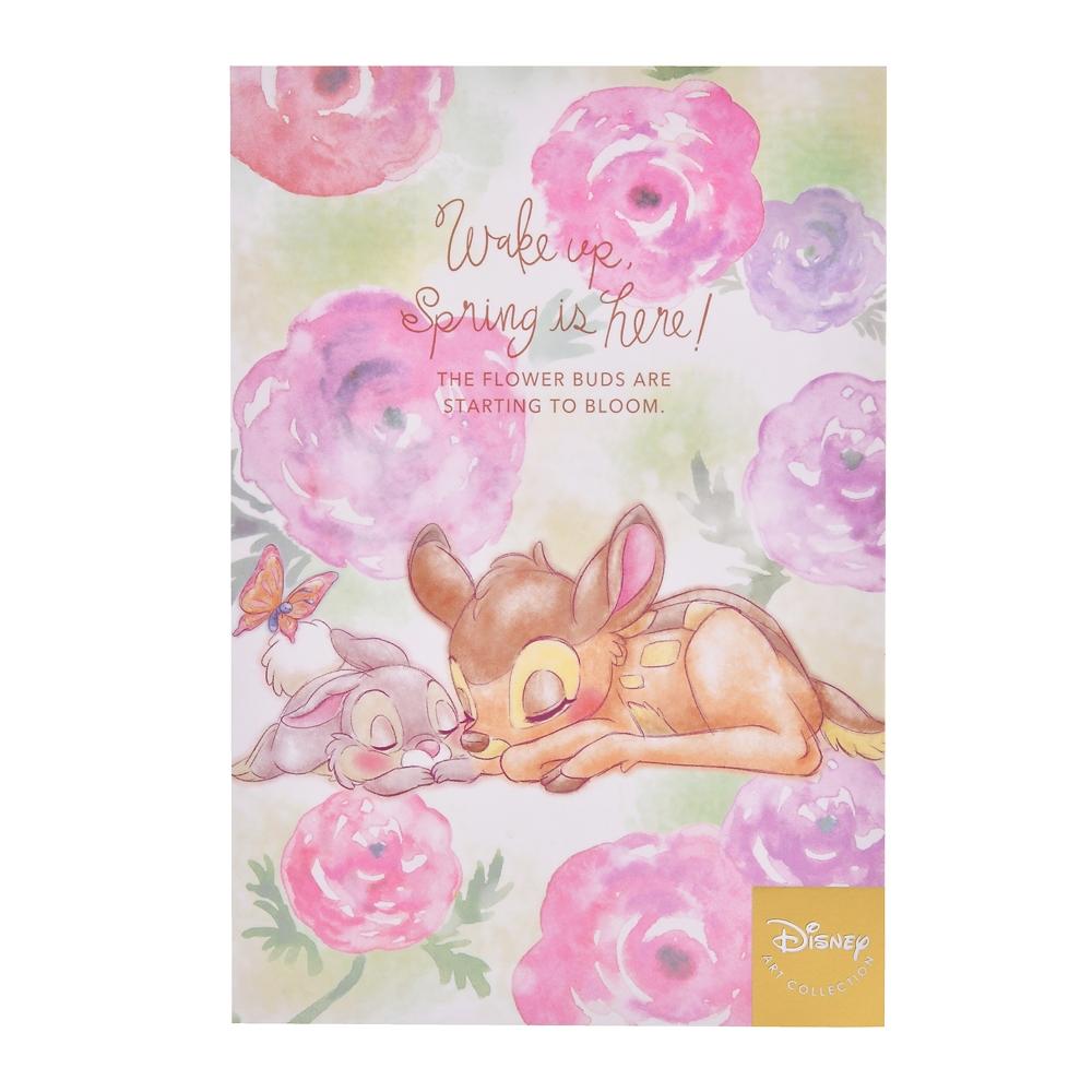 バンビ&とんすけ ポストカード Wake up Spring is here!