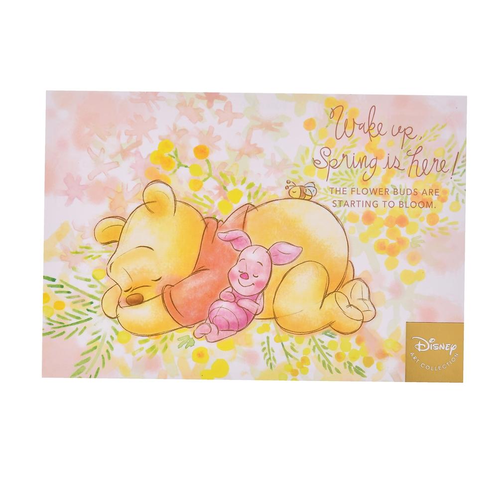 プーさん&ピグレット ポストカード  Wake up Spring is here!