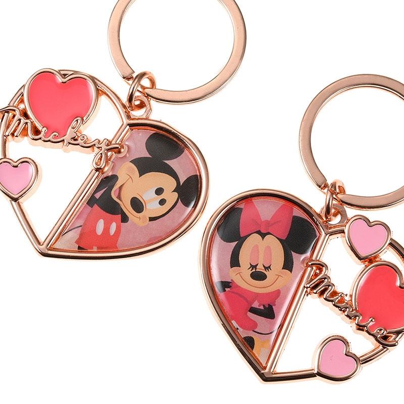 ミッキー&ミニー キーホルダー・キーチェーン Disney Valentine 2020