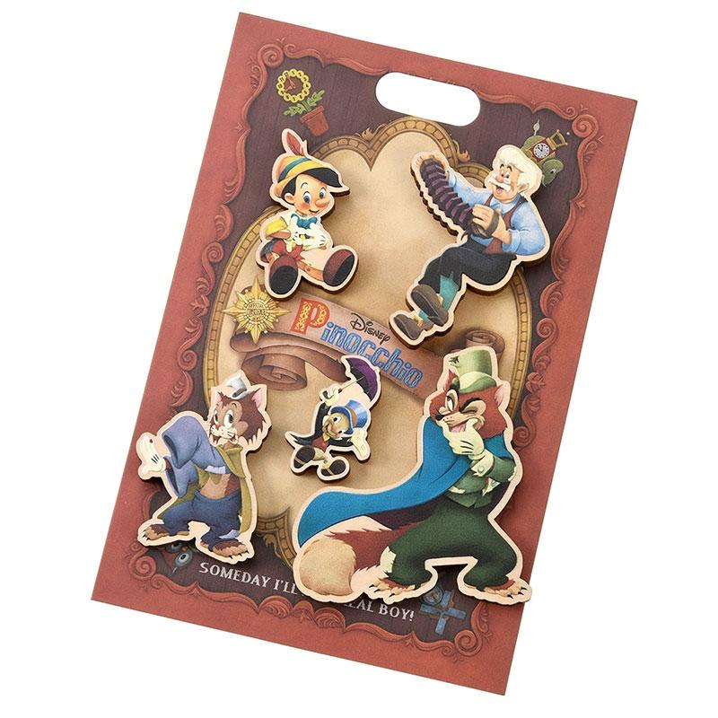ピノキオ ピンバッジ セット Pinocchio 80th