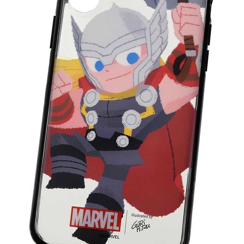 マーベル アイアンマン、キャプテン・アメリカ、ソー iPhone X/XS用スマホケース・カバー セット 着せ替え グリヒル