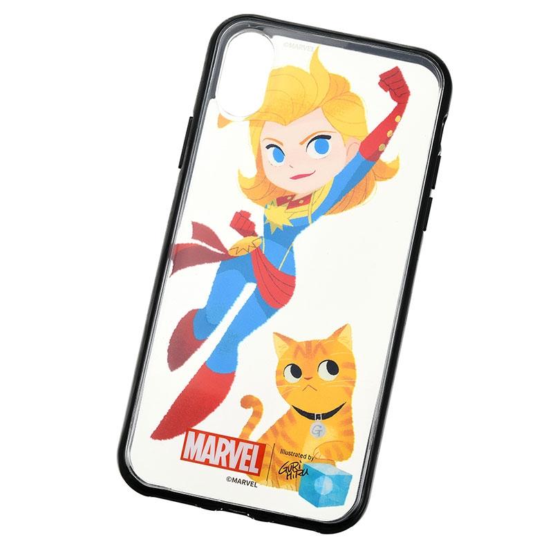 マーベル キャプテン・マーベル&グース iPhone X/XS用スマホケース・カバー セット 着せ替え グリヒル