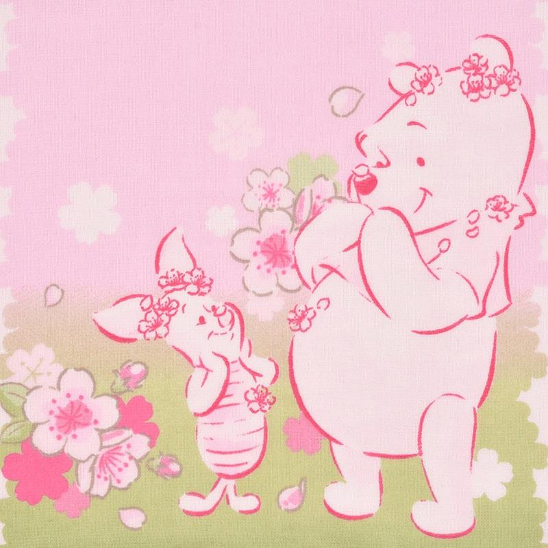 プーさん&ピグレット フェイスタオル Sakura 2020