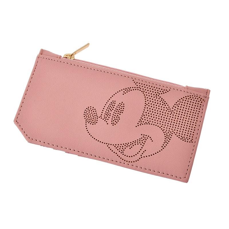 【アウトレット】ミッキー カードケース・コインケース ピンク Oshigoto