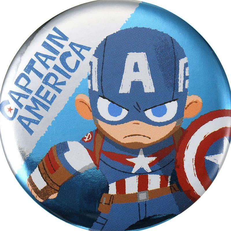 マーベル キャプテン・アメリカ 缶バッジ グリヒル