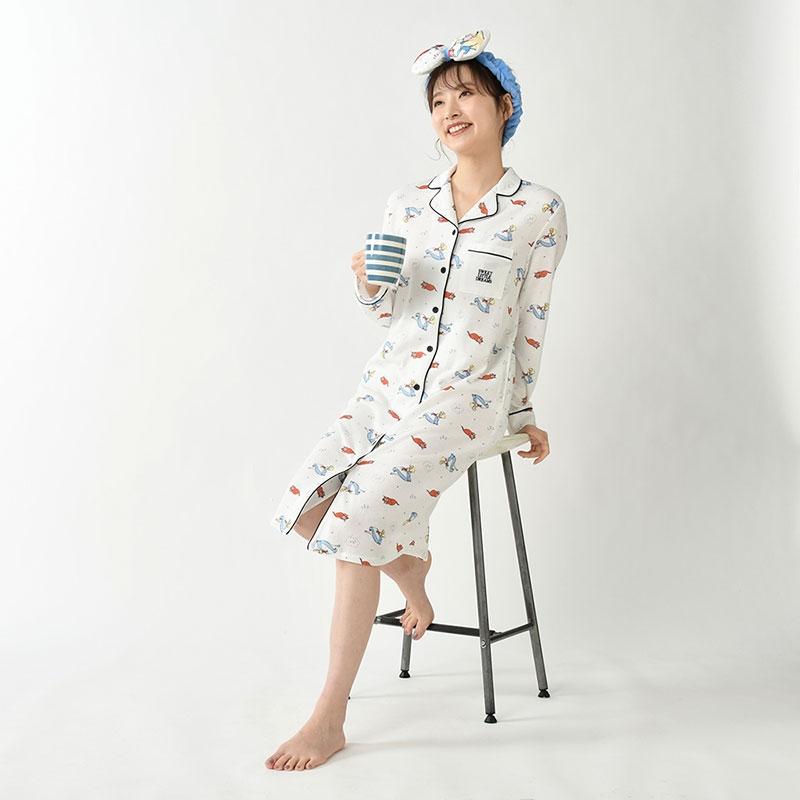 アリス&ダイナ 長袖ワンピース 巾着付き Sleep Day