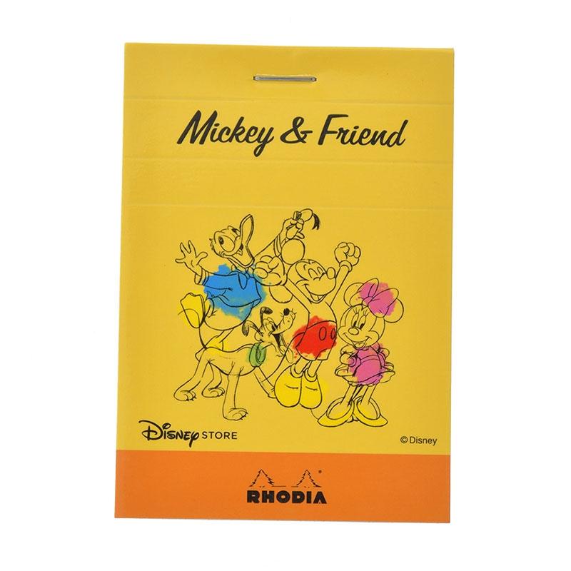 【RHODIA】ミッキー&フレンズ メモ帳 ブロックロディア No.11