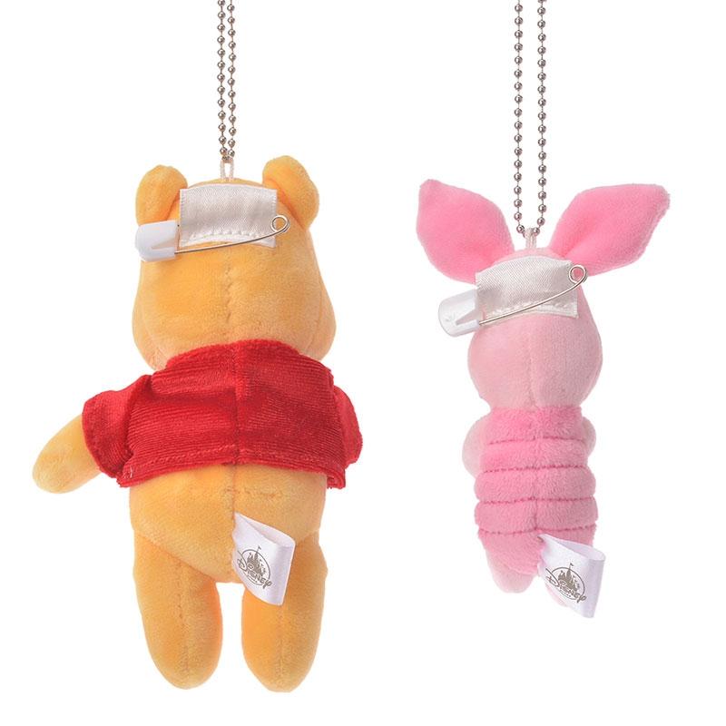 プーさん&ピグレット ぬいぐるみキーホルダー・キーチェーン Disney Valentine 2020