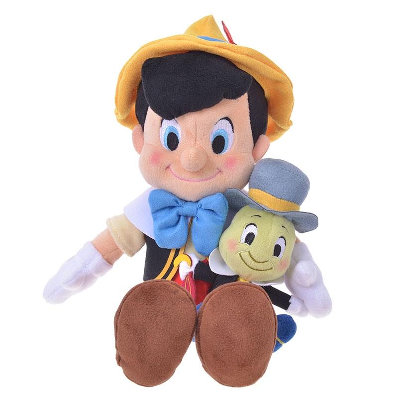ピノキオ&ジミニー・クリケット ぬいぐるみ Pinocchio 80th
