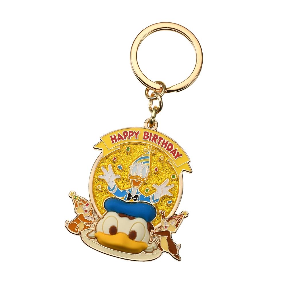 ドナルド、チップ&デール キーホルダー・キーチェーン Donald Duck Birthday 2020