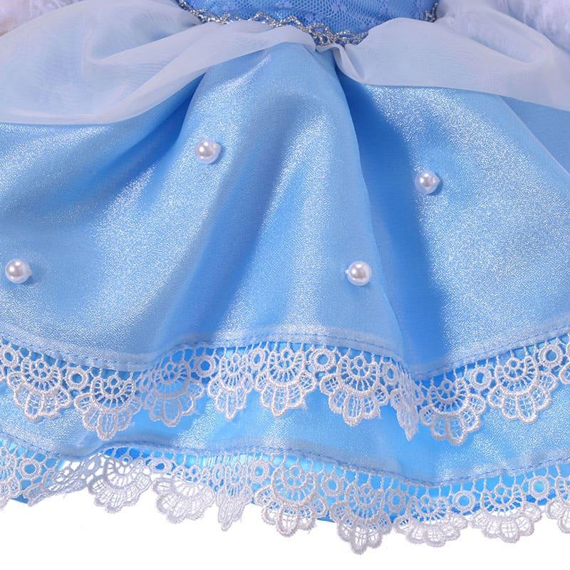ユニベアシティ ぬいぐるみ専用コスチューム ドレス シンデレラ ブルー