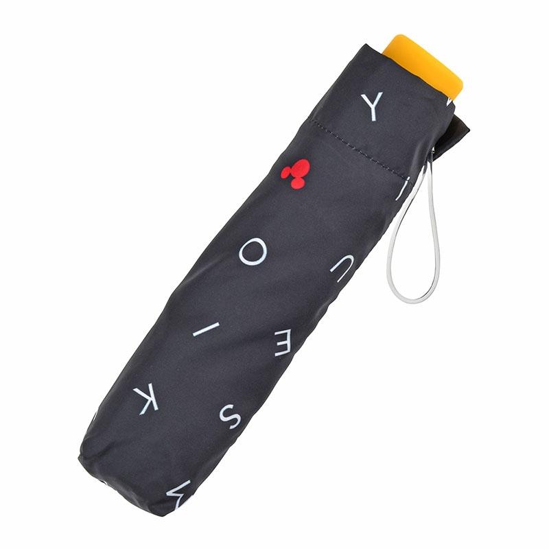 ミッキー 傘 折りたたみ式 アルファベット アイコン
