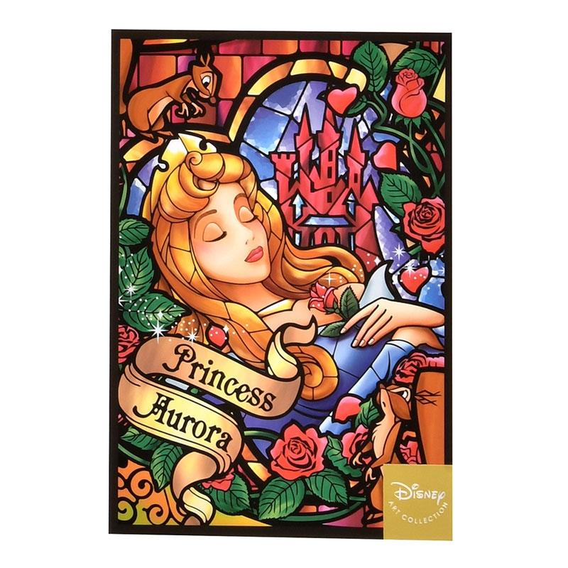 オーロラ姫 ポストカード ステンドグラス風