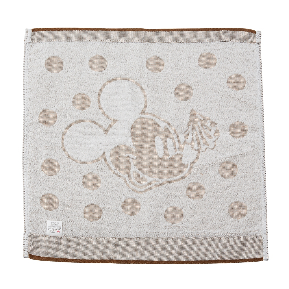 【キューポット】ミッキーマウス /ハンドタオル ポルカドット マカロン