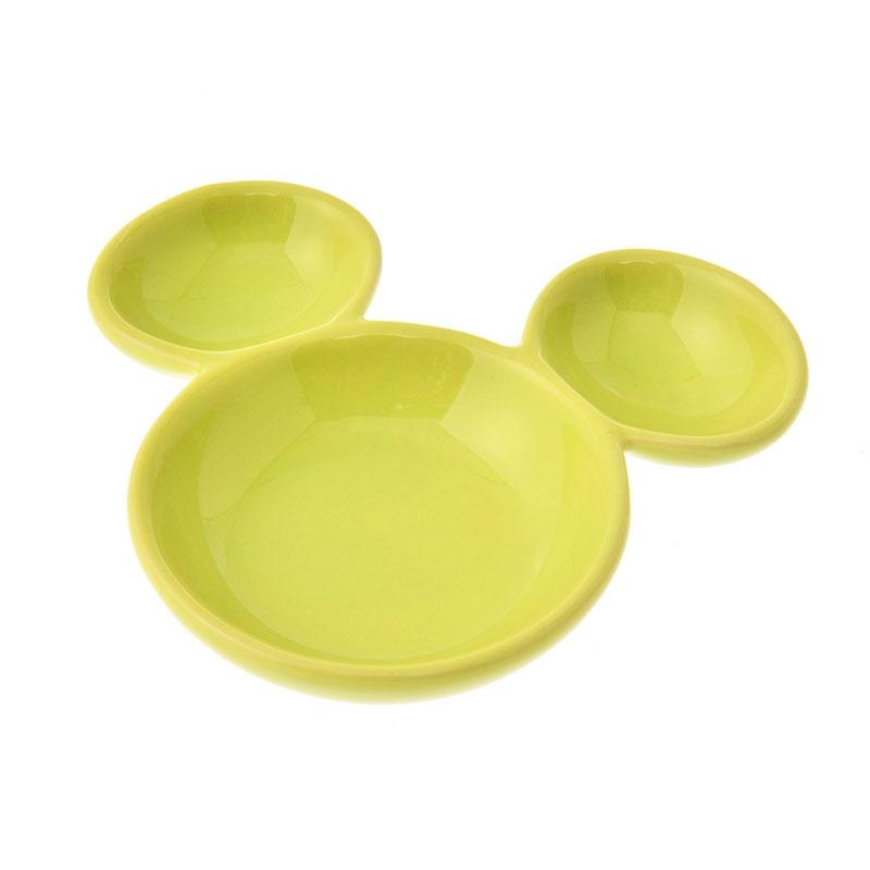 ミッキー プレート ミニ ライトグリーン アイコン