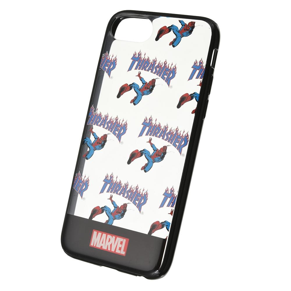 【THRASHER】マーベル スパイダーマン iPhone 6/6s/7/8/SE(第2世代)用スマホケース・カバー