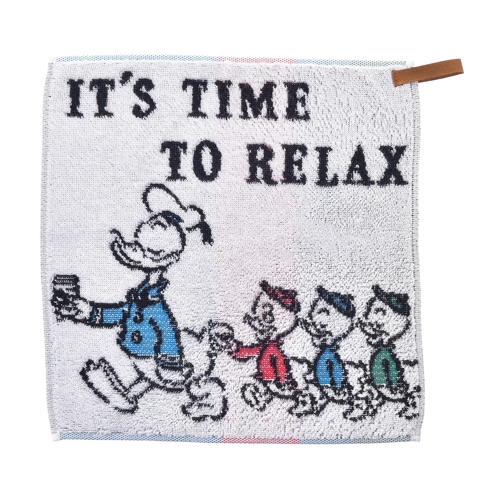 ドナルド&ヒューイ、デューイ、ルーイ ミニタオル  IT´S TIME TO RELAX